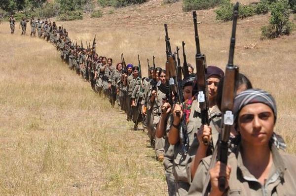 Mujeres kurdas en la guerra